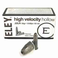 Патрон нарезной 22 LR HIGH VELOCITY HOLLOW ELEY(50шт)